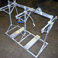 Safety rail handling frame