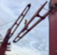 Repair of crane jib, Vancouver, BC