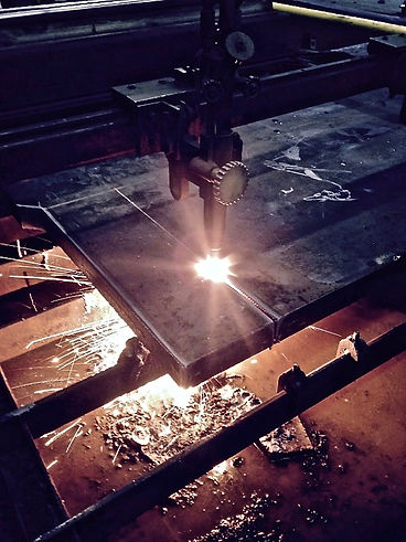 Cutting ABS certified steel plate