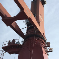 Attaching the repaired boom