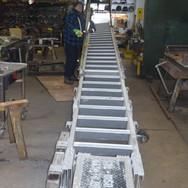Straighten and repair damaged gangway