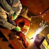 Repairs to seized crane block sheave