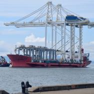 Heavy lift vessel arriving from ZPMC Shanghai