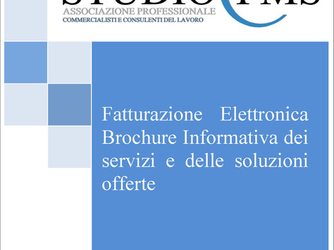 Speciale Fatturazione Elettronica -   Servizi innovativi e supporto informatico alle Aziende