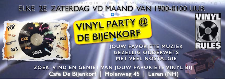 Vinyl party @ Cafe De Bijenkorf