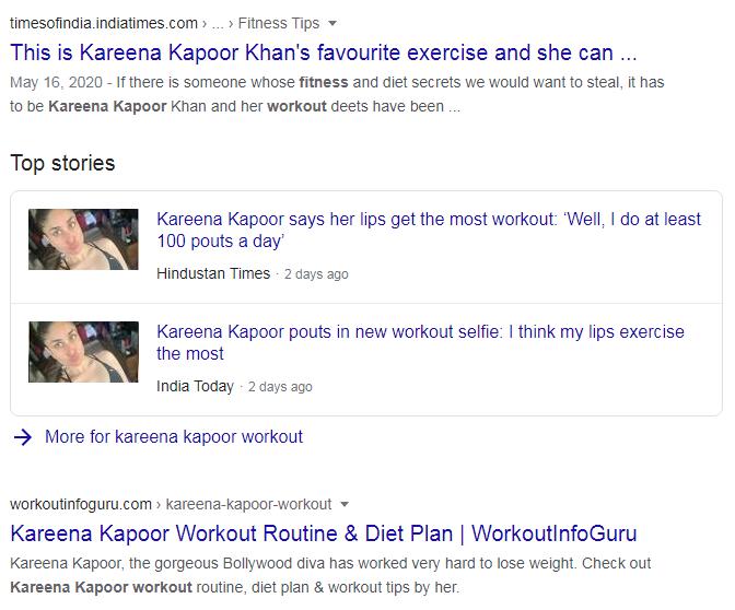 kareena kapoor workout-google search result