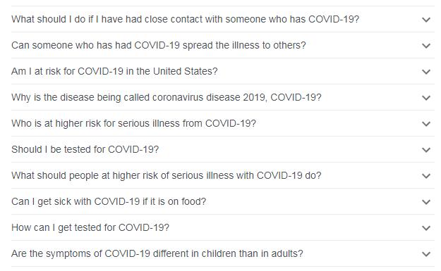 FAQs on Covid