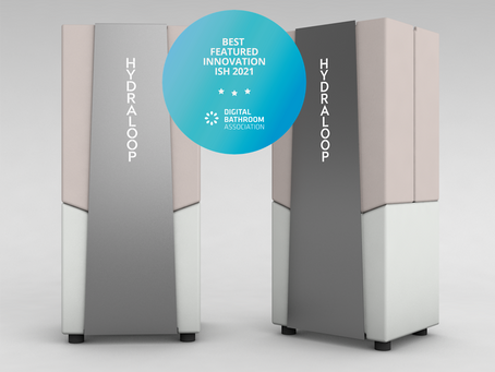 Hydraloop Systems Best Featured ISH innovation granted by the Digital Bathroom Association