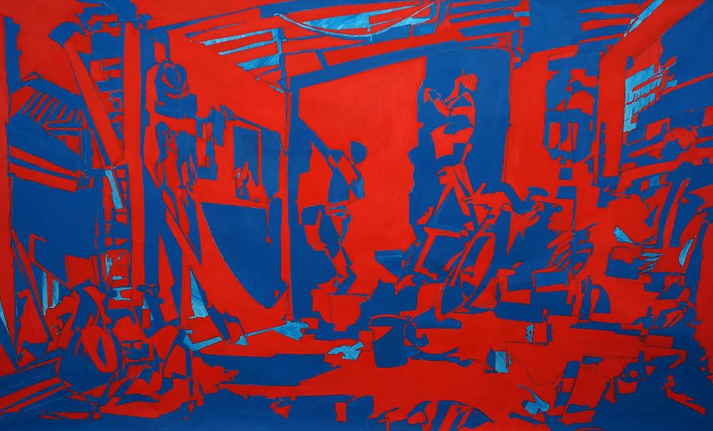 144 Victoria Street, Brunswick, 2017, Oil on canvas, 90x150cm