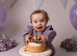 Lilac cake smash