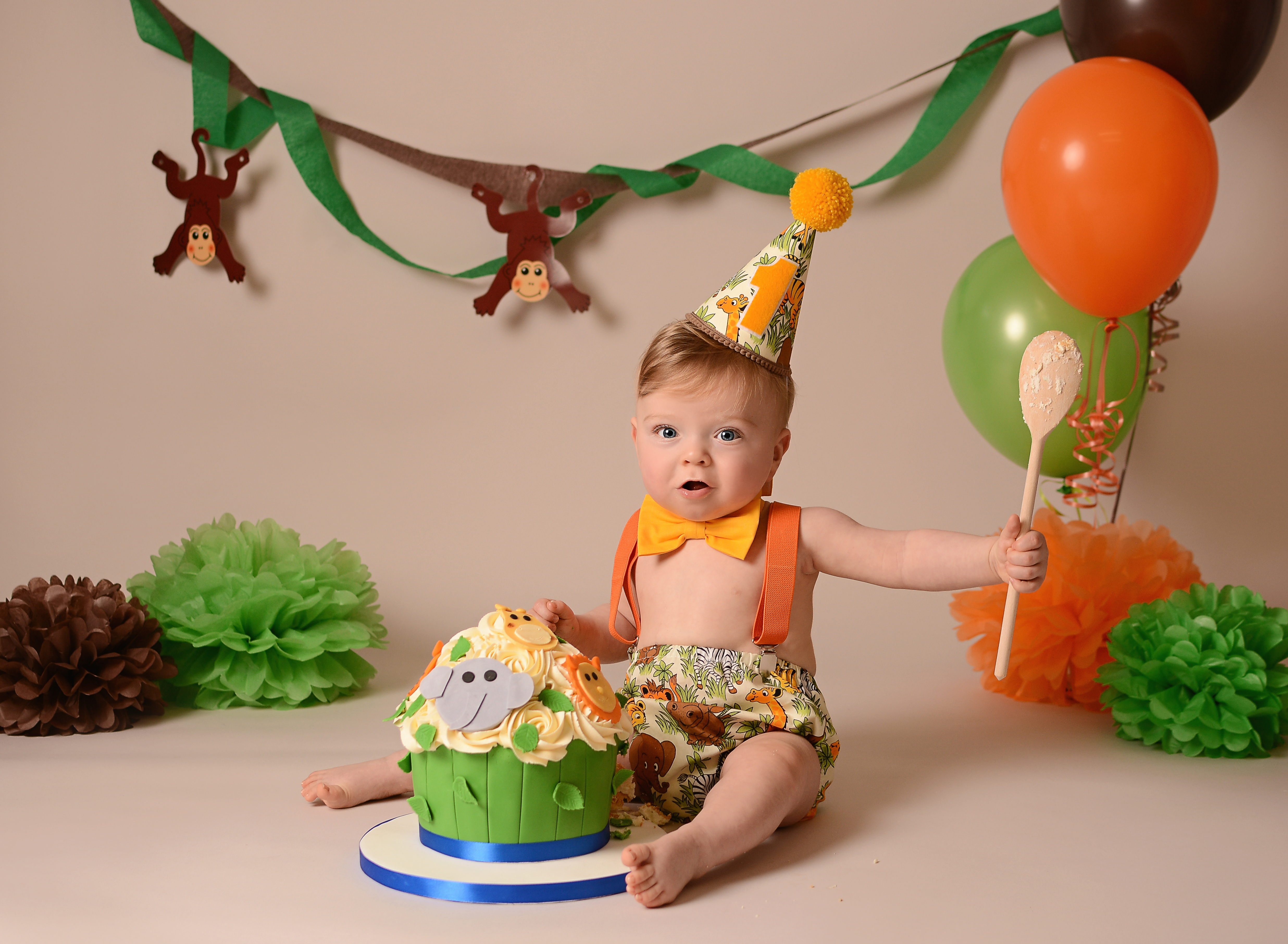 Jungle cake smash
