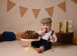 Vintage boys cake smash