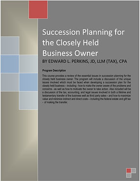 Succession Planning for the Closely Held