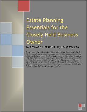 Estate Planning Essentails for the Close
