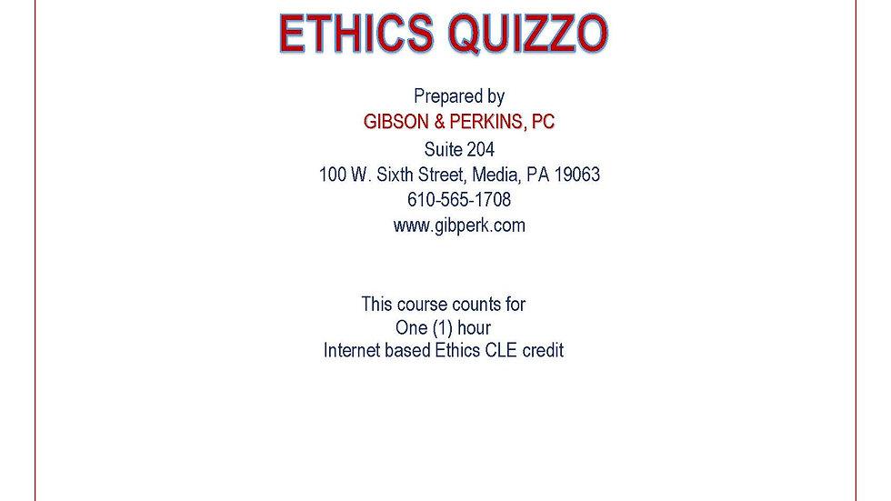 Ethics Quizzo Rebroadcast