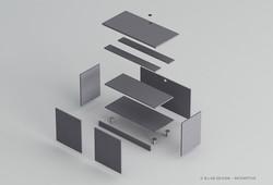 Meuble à micro-ondes (éclaté)