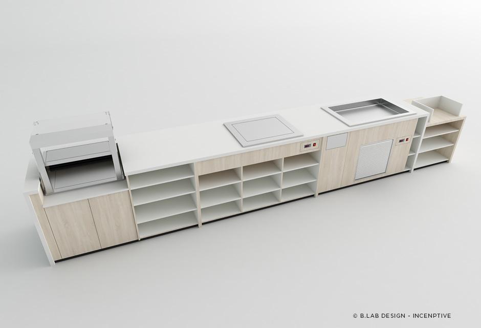 Comptoir de distribution (arrière)