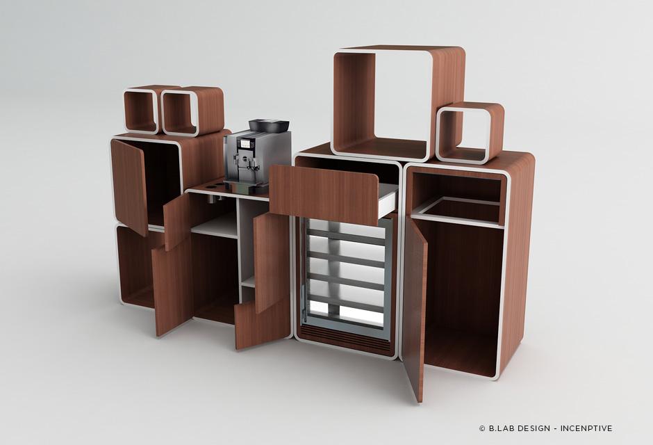 Meuble café modulaire