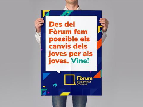 Disseny cartell fòrum de la joventit Andorra