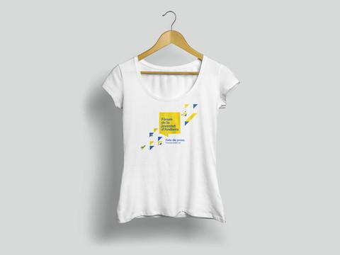 Disseny samarreta fòrum de la joventit Andorra