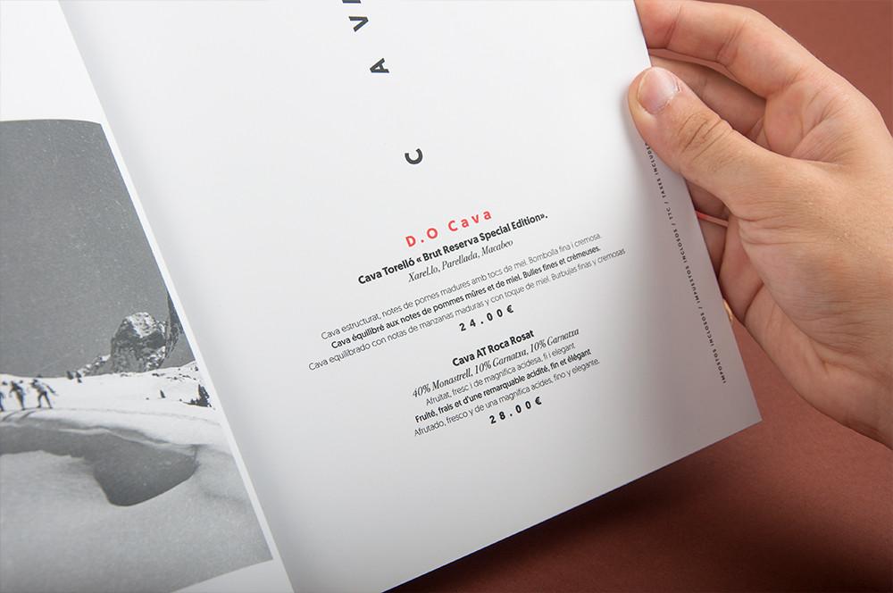 Disseny carta restaurant Vodka Bar