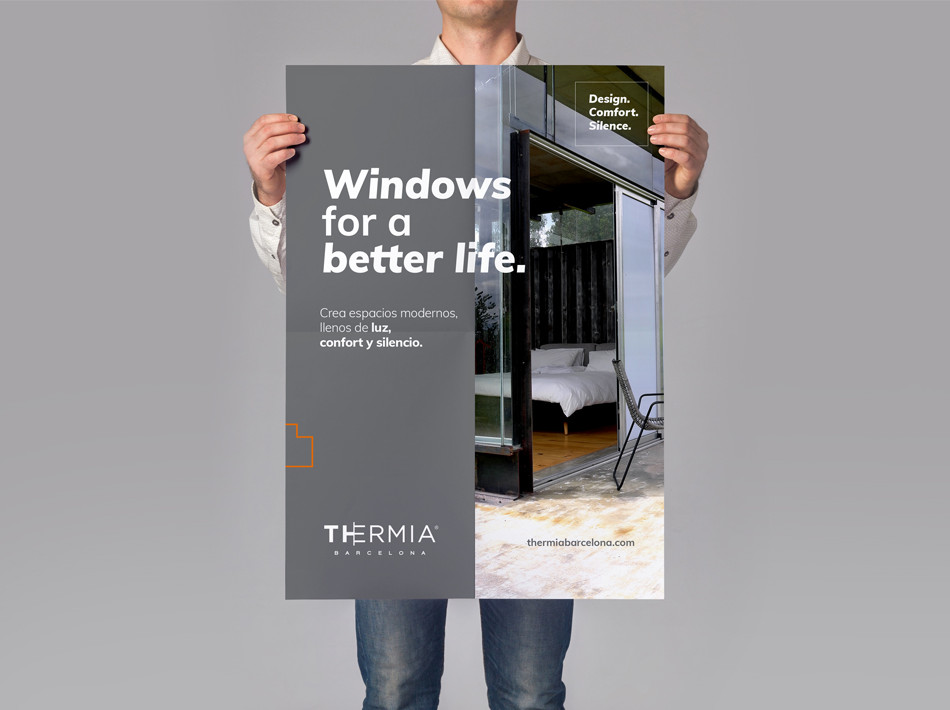 Disseny anunci de marca Thermia Barcelona