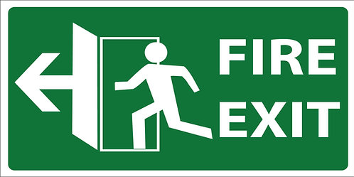Fire Exit Sign - Direction on checkout