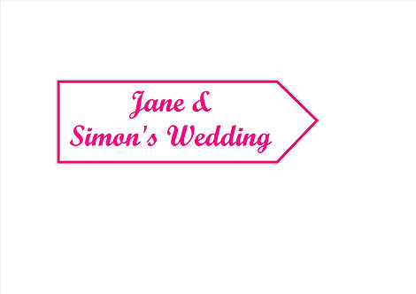 Wedding directional