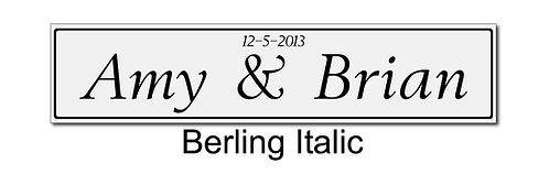 Berling Wedding plate pair