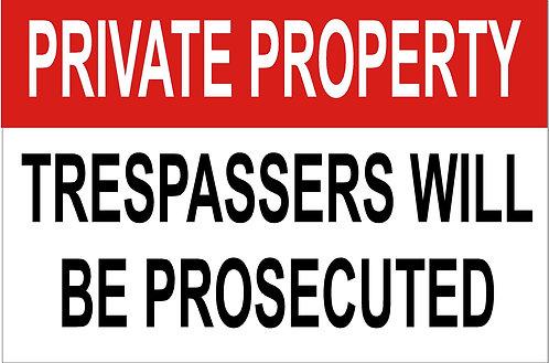 Trespass Sign