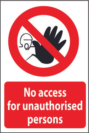 No access for inauthorised persons