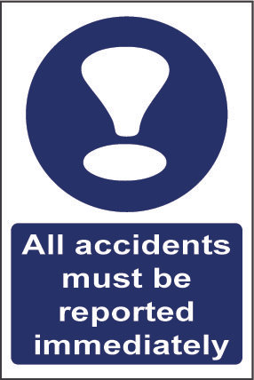 All accidents must be reported
