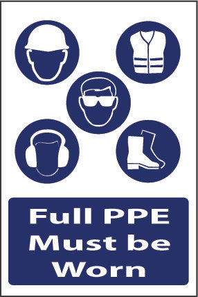 Full PPE must be worn