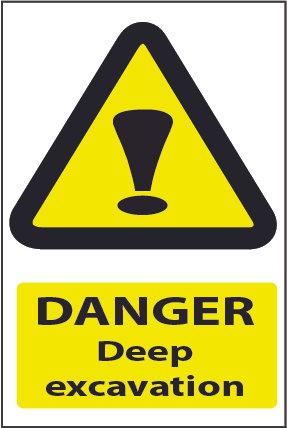 Caution Deep Excavation