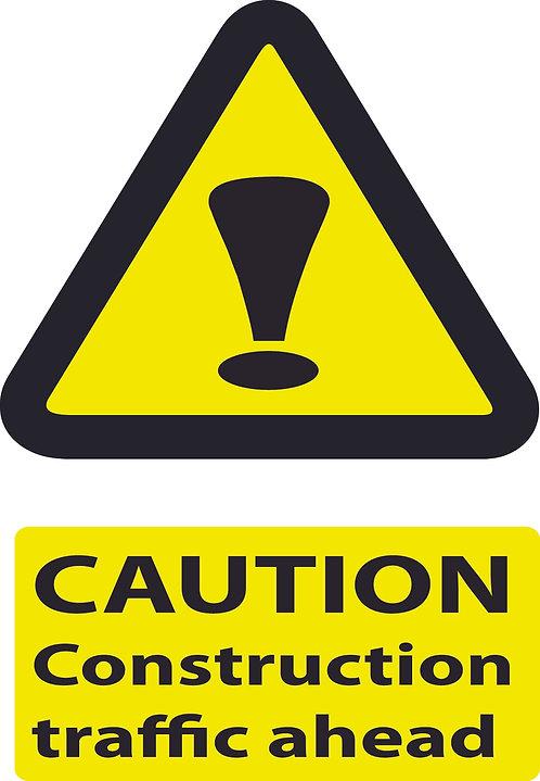 Caution Construction Traffic Ahead