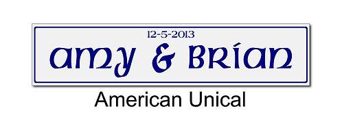 American Wedding plate pair