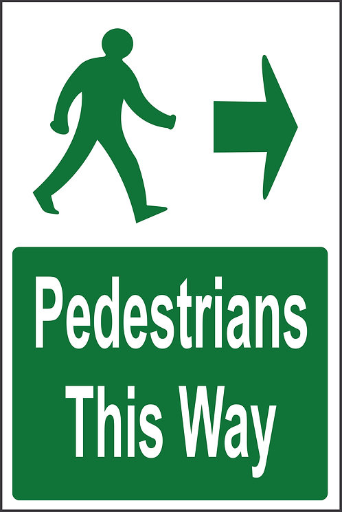 Pedestrian route  - Direction chosen at check