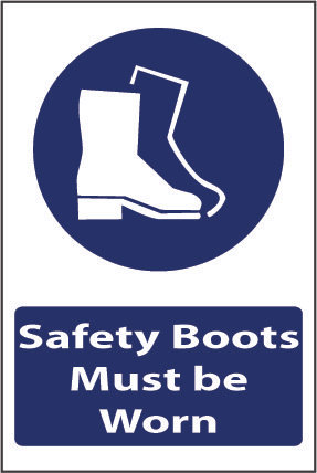 Safety boots must be worn