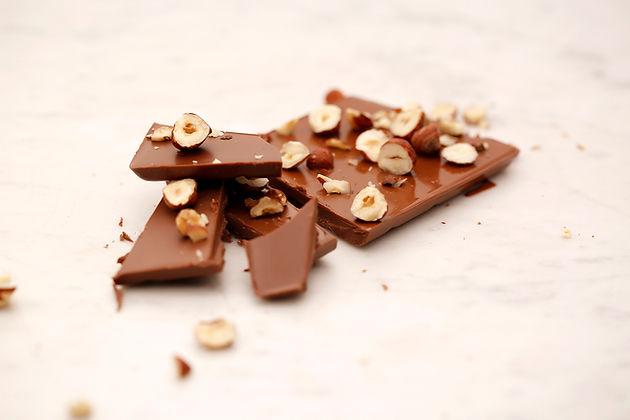 El chocolate de avellanas