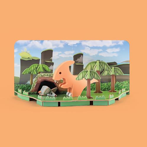 Halftoys Magnetic Animal Blocks Diorama - Para