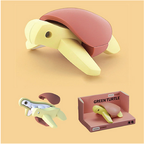 Halftoys Magnetic Animal Blocks - Turtle
