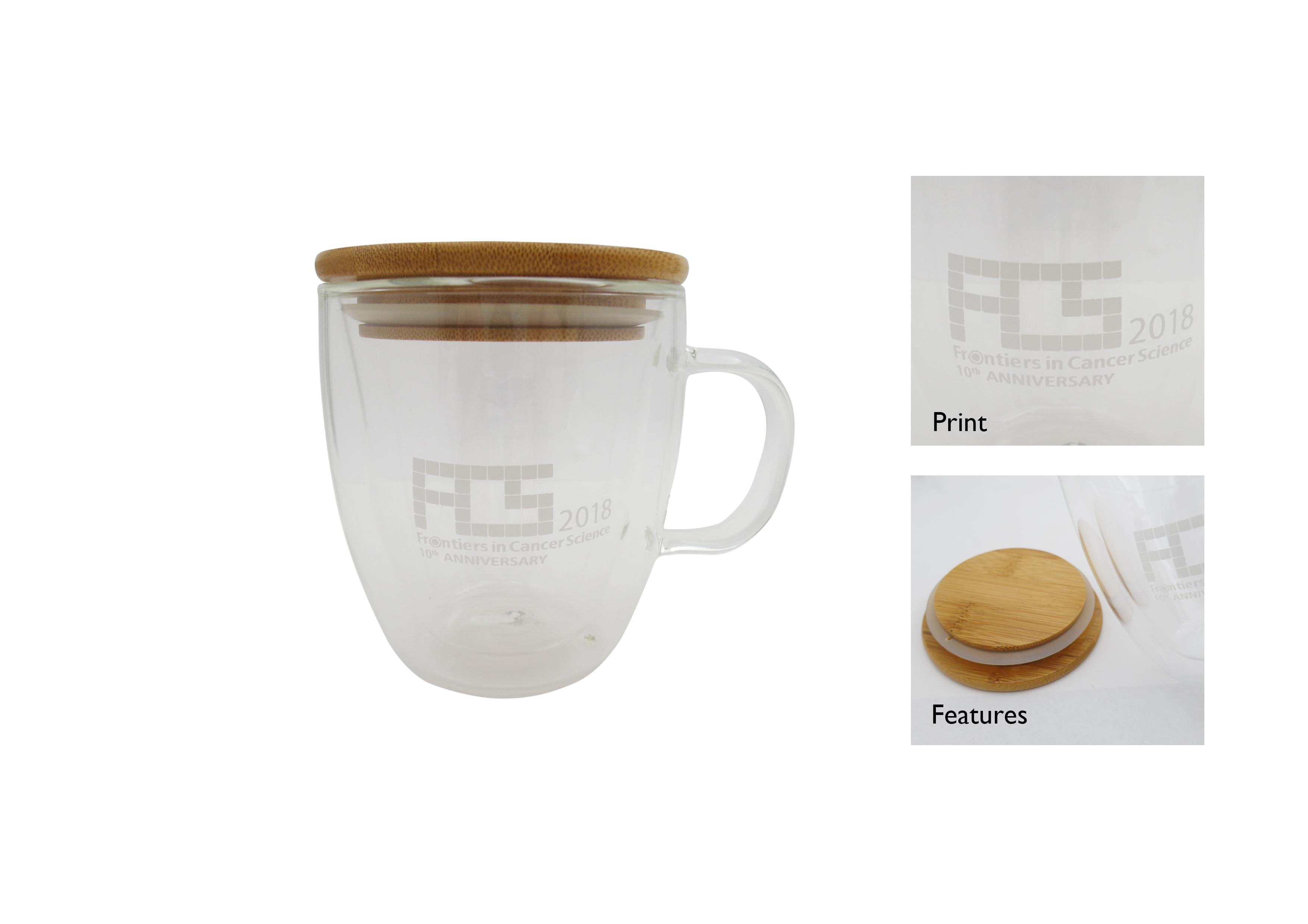 Double Wall Glass Mug, FCS