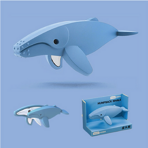 Halftoys Magnetic Animal Blocks - Humpback Whale