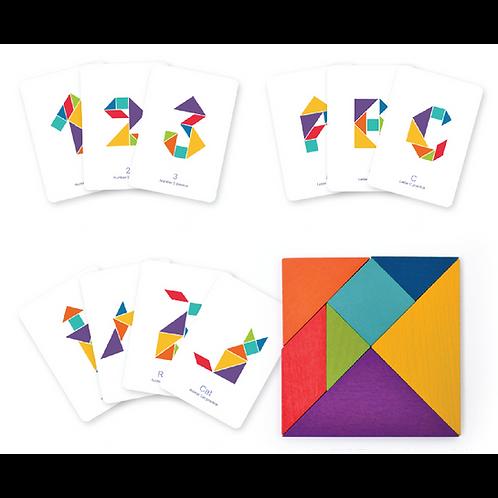 Mideer Colourful Tangram Puzzle Game