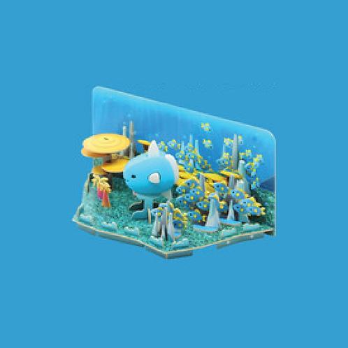 Halftoys Magnetic Animal Blocks with Diorama - Mola