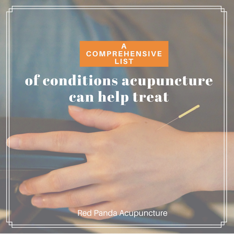 What acupuncture can help treat