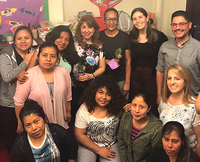 Pre-k families connect with eachother in ParentCorps' Parening Program