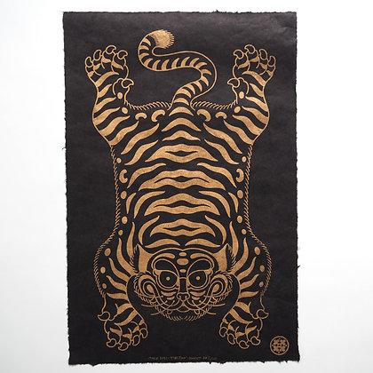 'Tibetian' Gold Linoprint