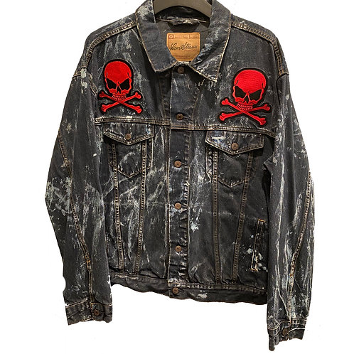 bleach skull jacket