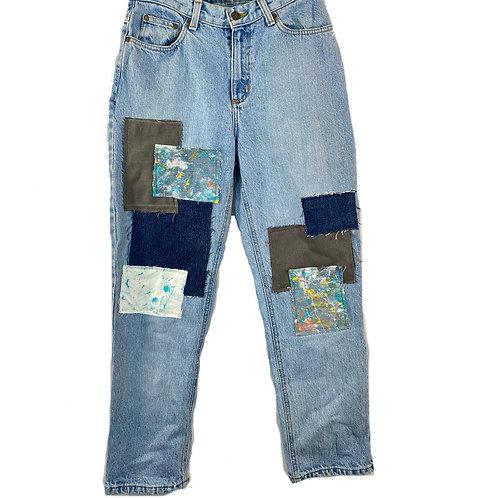 paint patch jeans